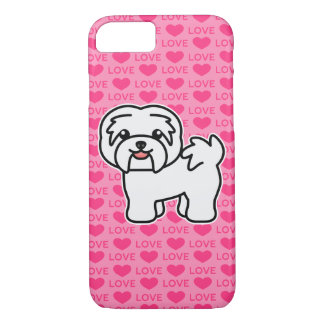 White Cartoon Havanese Love iPhone 8/7 Case