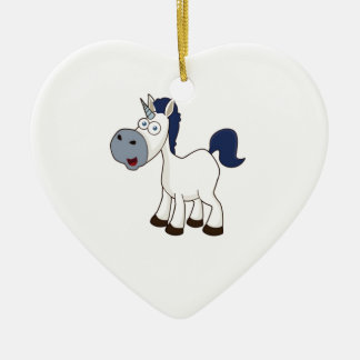 white cartoon horse ceramic ornament