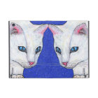 White Cat Blue Eyes Cover For iPad Mini