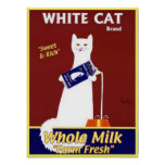 White Cat Brand Whole Milk Poster