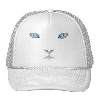 White Cat Face Trucker Hat