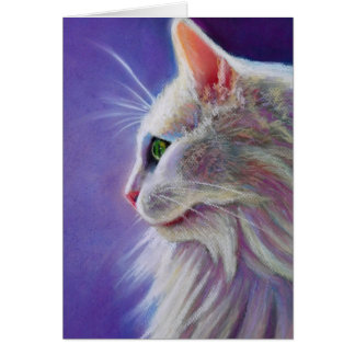 White Cat in Profile Card