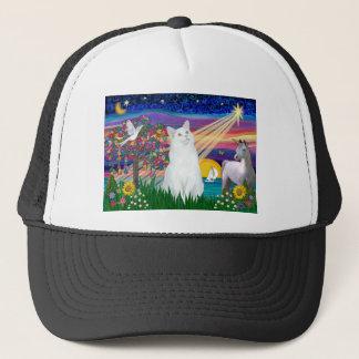 White Cat - Magical Night Trucker Hat