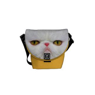 White Cat Messenger Bag