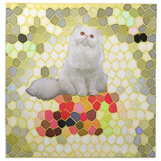 White Cat Napkin