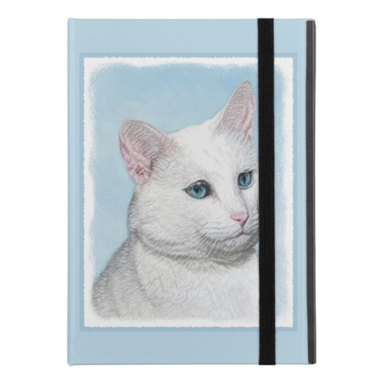 "White Cat Painting - Cute Original Cat Art iPad Pro 9.7"" Case"