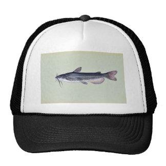 White catfish mesh hat