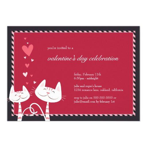 White Cats in Love | Valentine's Party Invitation