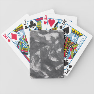 White Chalk and Black Ink Bicycle Playing Cards