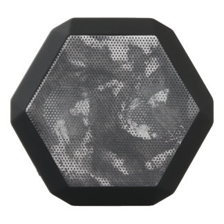 White Chalk and Black Ink Black Bluetooth Speaker