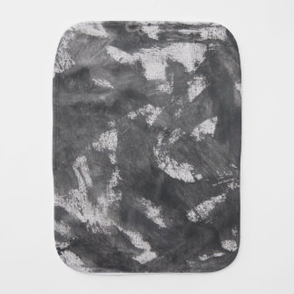 White Chalk and Black Ink Burp Cloth