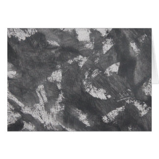 White Chalk and Black Ink Card