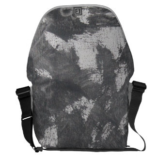 White Chalk and Black Ink Courier Bags
