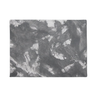 White Chalk and Black Ink Doormat