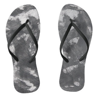 White Chalk and Black Ink Flip Flops