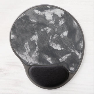 White Chalk and Black Ink Gel Mouse Pad