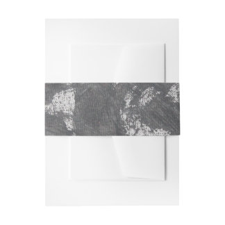White Chalk and Black Ink Invitation Belly Band