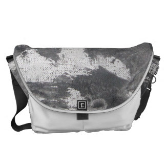 White Chalk and Black Ink Messenger Bags