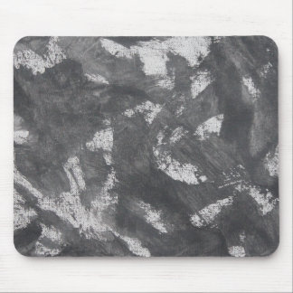 White Chalk and Black Ink Mouse Pad