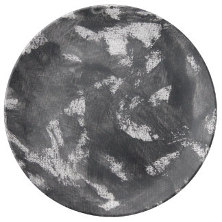 White Chalk and Black Ink Plate