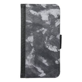 White Chalk and Black Ink Samsung Galaxy S6 Wallet Case