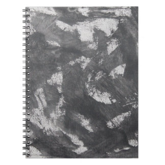 White Chalk and Black Ink Spiral Notebook