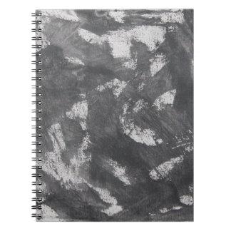 White Chalk and Black Ink Spiral Notebook