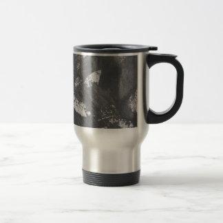 White Chalk and Black Ink Travel Mug