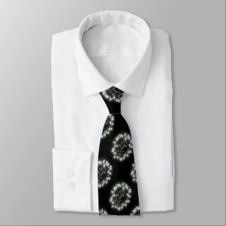 White Chalk Drawn Merry and Bright Holiday Tie