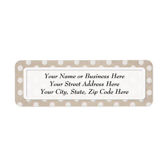 White Chalk Polka Dot Print Return Address Labels