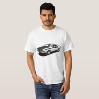 White Challenger classic car t-shirt