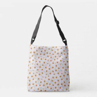 White Chamomile Blossoms Crossbody Bag