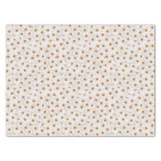 White Chamomile Flower Pattern Tissue Paper