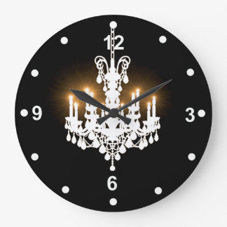 White Chandelier Clock