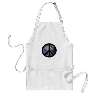 White Chef's Apron Peace Sign Blog4Peace