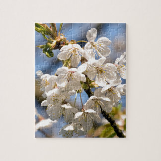 White Cherry bare OM Jigsaw Puzzle