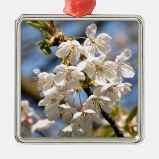 White Cherry bare OM Metal Ornament