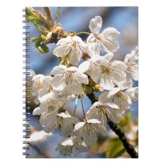 White Cherry bare OM Spiral Notebook