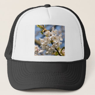 White Cherry bare OM Trucker Hat