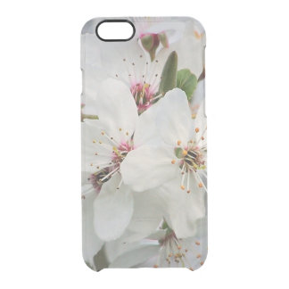 White Cherry Blooms Clear iPhone 6/6S Case