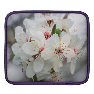 White Cherry Blooms Design Sleeves For iPads