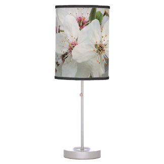White Cherry Blooms Desk Lamp