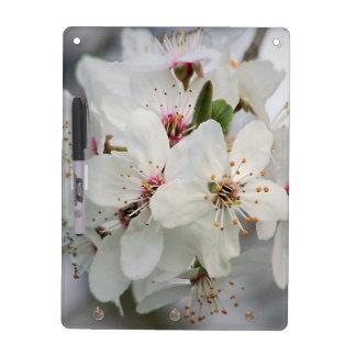 White Cherry Blooms Dry Erase Whiteboard