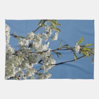 White Cherry blossom and blue sky Towel