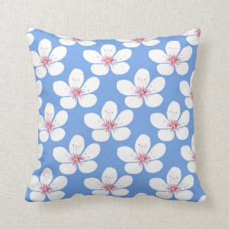 White cherry blossom pillow