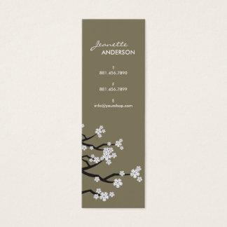White Cherry Blossoms Sakura Spring Flowers Branch Mini Business Card