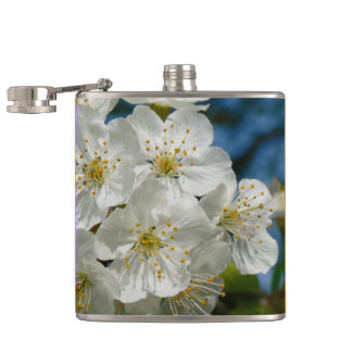 White cherry Blossoms, Spring Hip Flask