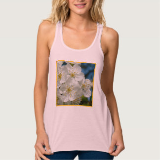 White cherry Blossoms, Spring Tank Top