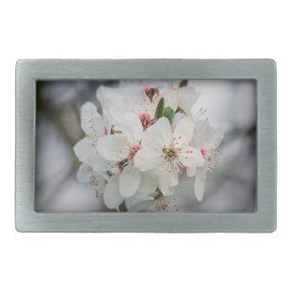 White Cherry Floral Belt Buckle
