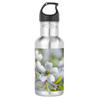 White Cherry Flower 532 Ml Water Bottle